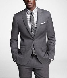 Gray Stretch Wool Photographer Suit...