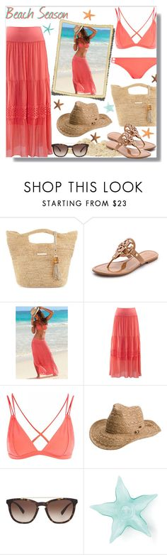 """Get Ready for Beach Season"" by teah507 ❤ liked on Polyvore featuring Heidi Klein, Tory Burch, Lascana, Topshop, Roxy, Valentino, Summer, beach and bikini"