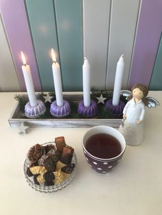 Weihnachtsmarkt einmal anders  Stabkerzen in Gugelhupfform  kreativesbypetra Petra, Birthday Candles, Creative