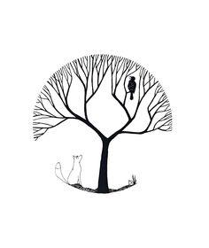 Aesop Illustration Fox and Raven Fuchs und Rabe Etsy Chromartist Raven Tattoo, Fox Tattoo, Fox Illustration, Crows Ravens, Rabe, Paint And Sip, Fox Art, Aesop, Heart Art