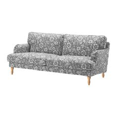 STOCKSUND Sofa, Hovsten gray/white, light brown/wood Hovsten gray/white light brown