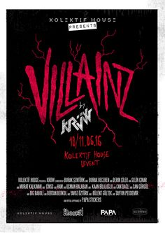 Villainz Screenprint Exhibition by KRÜW on Behance