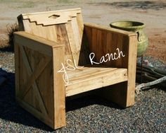 PalletChair1 600x479 Southwestern Pallet Lounge Chair in pallet furniture with wood reclaimed Pallets Pallet Furniture Pallet for Outdoor Project Chair