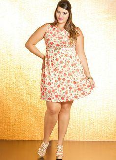 Vestido Plus Size Floral - Quintess