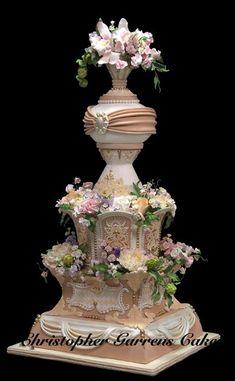 www.cakecoachonline.com - sharing... Traditional Wedding Cake by Christopher Garrens / http://www.letthemeatcake.net