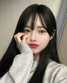 Pin by エレガントな on 化粧 Ulzzang Korean Girl, Cute Korean Girl, Cute Asian Girls, Cute Girls, Korean Beauty, Asian Beauty, Uzzlang Girl, Pretty Asian, Blonde Beauty