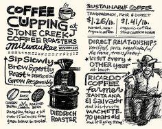 Coffee tasting as curated by @shaunaleelange