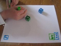 Array Multiplication Grid Game with Graph Paper Love this multiplication game idea! Perfect to connect area and multiplication! All you need is dice, markers, and graph paper. Use laminated graph paper and dry erase markers to make a reusable center. Math For Kids, Fun Math, Maths, Math Resources, Math Activities, Educational Activities, Multiplication Grid, Fourth Grade Math, Third Grade