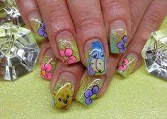 Winnie the Pooh nailart nails polish , bellashoot.com