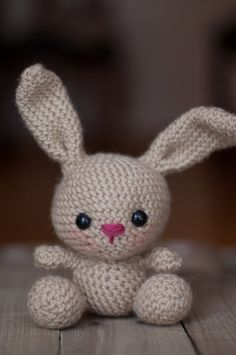 ******PLEASE NOTE: THIS IS A DIGITAL CROCHET PATTERN******  Create your own adorable little bunny in just a couple hours! This super simple pattern includes one PDF file (5 pages long) with detailed instructions on how to crochet and assemble all the parts to make this elephant. Only basic crocheting skills will be needed to make this pattern: chain, single crochet, increasing and decreasing. Difficulty: Intermediate  Materials needed will be: a crochet hook size G/4.25mm worsted weight…