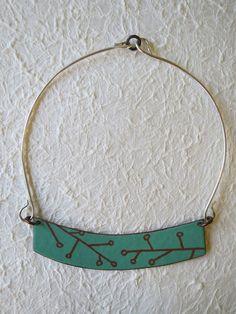 Enamel branch necklace on Etsy, $78.00