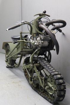 Steampunk Vehicles — rocketumbl: Mercier 1937 Moto Chenille I've. Futuristic Motorcycle, Motorcycle Bike, Steampunk Motorcycle, Cool Motorcycles, Vintage Motorcycles, Concept Motorcycles, Moto Cafe, V Max, Pt Cruiser