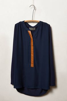 Farrah Henley simple navy top
