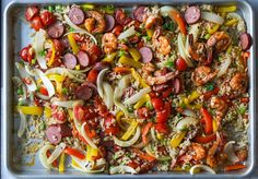 Get speedy family-friendly meals cooked, and avoid the dreaded dish washing, by using this collection of sheet pan dinners. Everything fr... Chicken Stroganoff, Recipe Finder, One Pot Meals, Cooking Light, Sheet Pan, Paella, New Recipes, Vegetable Pizza, Casseroles