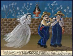 Mexican Exvoto Retablo EX Voto Headless Bride Ghost | eBay
