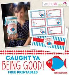 Being caught being GOOD is WAYYYYY better than being caught being BAD. Great positive tool in parenting and adorable printable. #freeprintables #positiveparenting