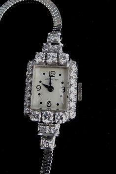 Vintage Hamilton Ladies 26 Total Diamond Watch by YourHeart. Etsy.