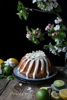 vegan Lemon Drizzle Bundt Cake recipe - The Little Plantation