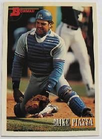 1993 bowman mike piazza #646 baseball card los angeles dodgers.