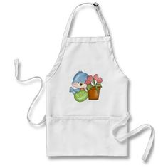 Easter Holiday Bird Kitchen apron