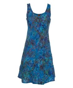 Look what I found on #zulily! Chambray Batik Weekend Dress by Ojai Clothing #zulilyfinds