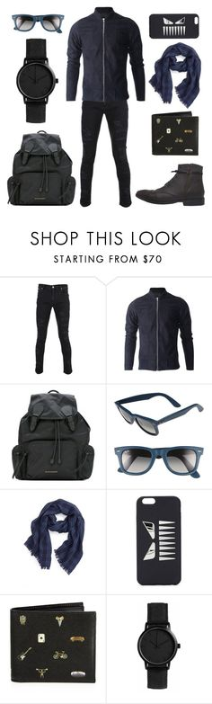"""Kodiak café"" by fakefur on Polyvore featuring Versus, Burberry, Ray-Ban, Polo Ralph Lauren, Fendi, Paul Smith, men's fashion and menswear"