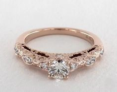 How Are Vintage Gemstone Diamond Engagement Rings Totally Different From Modern Rings? If you are deciding from the vintage or modern gemstone diamond engagement ring, there's a great consid… Round Cut Engagement Rings, Engagement Ring Styles, Designer Engagement Rings, Rose Gold Engagement Ring, Vintage Engagement Rings, Solitaire Engagement, Engagement Pictures, Elegant Wedding Rings, Wedding Rings Rose Gold