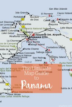 panama city beach attractions Map of Panama and attractions