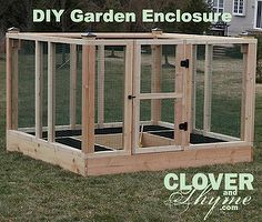 diy raised bed garden enclosure, diy, gardening, raised garden beds, We used untreated pine for our enclosure but you can go all out with cedar or go green and use recycled or repurposed wood Note Avoid pressure treated lumber if you are nervous about the chemicals coming in contact with the soil