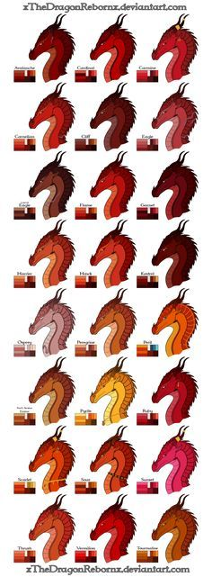 Wings Of Fire Tribe Color Palettes Headcanon By Reyac On