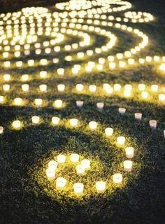 Labyrinth Garden Ideas | candle labyrinth | Wedding Ideas
