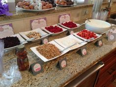 For My Friend Stephanieu0027s Baby Shower We Did A Yogurt Parfait Bar. We Had  Vanilla
