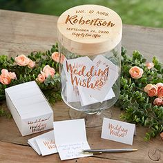 and Mrs. Personalized Wedding Wishes Jar - - Mr. and Mrs. Personalized Wedding Wishes Jar. Creative Wedding Favors, Inexpensive Wedding Favors, Cheap Favors, Wedding Favors For Guests, Personalized Wedding Favors, Wedding Guest Book, Wedding Day, Dream Wedding, Craft Wedding