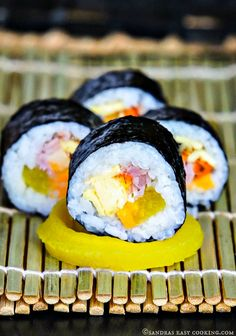Korean sushi roll - Kimbap @SECooking | Sandra | Sandra #homemade #recipes