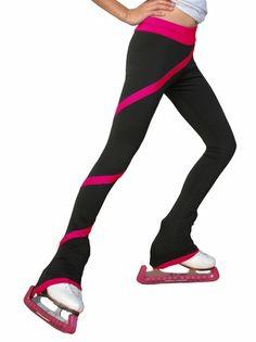 Chloe Noel Figure Skating Polar Fleece Spiral Pants by Polartec Fuchsia Child Medium: Solid Color Waist & Cuff & Spiral Ice Skating, Figure Skating, Roller Skating, Skate Long, Chloe Noel, Skate Wear, Pink Kids, Pink Child, Running Pants