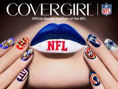 COVERGIRL Launches NFL Fanicure Outlast Stay Brilliant Nail Gloss Nail Art Bundles