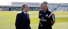 Florentino Pérez visita la Ciudad Real Madrid en el arranque de la pretemporada