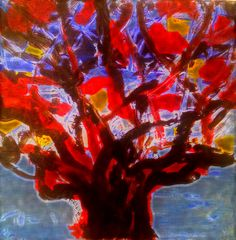 Peter R. White Trees, R White, Abstract, Artist, Artwork, Painting, Summary, Work Of Art, Painting Art