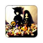 old halloween photo square sticker #halloween #happyhalloween #halloweenparty #halloweenmakeup #halloweencostume