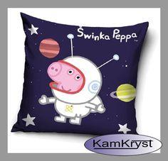 Peppa Pig Pillow in space - shop KamKryst | Poduszka Świnka Peppa w kosmosie  - sklep KamKryst #peppa #peppa_pig