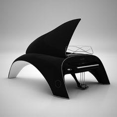 Whaletone, grand piano designed by Polish designer Robert Majkut. Premiere: Design Week Milano 2011