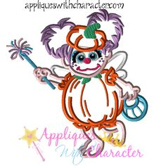 Sesame Halloween Abby Cadabby Street Applique Embroidery Machine Design 3 Hoop…