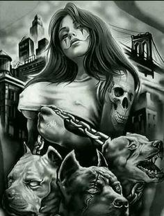 "Full Square/Round Drill DIY Diamond Painting ""Skull girl"" Embroidery Cross Stitch Home Decor Gift Lowrider Art, Lowrider Drawings, Body Art Tattoos, Sleeve Tattoos, Cool Tattoos, Tatoos, Ear Tattoos, Celtic Tattoos, Tattoo Crane"