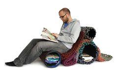 Rappelling Rope Furniture : Seilfaktur by Angelika Hess Nomadic Furniture, Repurposed Furniture, New Furniture, Metal Furniture, Furniture Ideas, Outdoor Gear Review, Outdoor Companies, Rope Rug, Rope Ladder