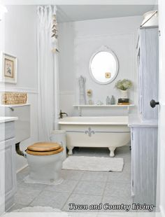 My Claw Foot Tub Gets Frenchified - Town & Country Living