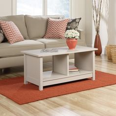 Sauder Original Cottage Coffee Table - The Sauder Original Cottage Coffee Table keeps things easy and open in casually styled living rooms, with an updated cottage style in your choice ...