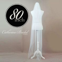 Single Tier Chapel 80 Floor Length Veil made by CatherineBridal, $98.00