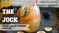 The perfect #cocktail for season transitions is made with roasted #peaches, figs and #bourbon. #cocktailrecipes #recipes #drinkrecipes
