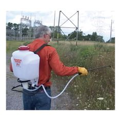 Get that yard work done easily with this professional piston-pump 4-gallon Chapin Backpack Sprayer Has features that let DIY-users and professionals spray for hours without fatigue.