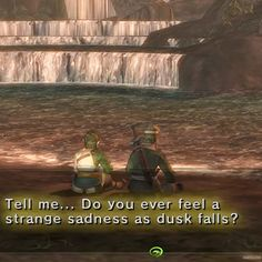 Tell me... Do you ever feel a strange sadness as dusk falls?